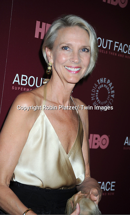 """model Karen Bjornson attends the New York Premiere of  HBO's """"About Face: Supermodels Then and Now"""" on July 17, 2012 at The Paley Center for Media in New York City. This was filmed by Timothy Greenield-Sanders."""