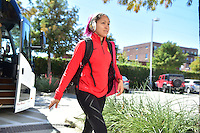 Houston, TX - Sunday Oct. 09, 2016: Jaelene Hinkle prior to a National Women's Soccer League (NWSL) Championship match between the Washington Spirit and the Western New York Flash at BBVA Compass Stadium.