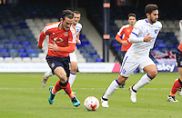 Jack Marriott of Luton Town breaks free during the Sky Bet League 2 match between Luton Town and Mansfield Town at Kenilworth Road, Luton, England on 22 October 2016. Photo by Liam Smith.