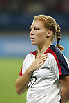 15 August 2008: Lori Chalupny (USA).  The women's Olympic team of the United States defeated the women's Olympic soccer team of Canada 2-1 after extra time at Shanghai Stadium in Shanghai, China in a Quarterfinal match in the Women's Olympic Football competition.