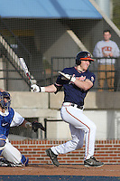 University of Virginia Cavaliers outfielder Joe McCarthy #31 at bat during a game against the University of Kentucky Wildcats at Brooks Field on the campus of the University of North Carolina at Wilmington on February 14, 2014 in Wilmington, North Carolina. Kentucky defeated Virginia by the score of 8-3. (Robert Gurganus/Four Seam Images)
