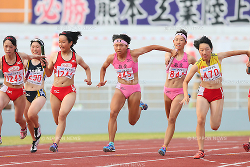 Haruko Ishizuka, JULY 29, 2015 - Athletics : 2015 All-Japan Inter High School Championships, Women's 4100mR at Kimiidera Athletic Stadium, Wakayama, Japan. (Photo by YUTAKA/AFLO SPORT)