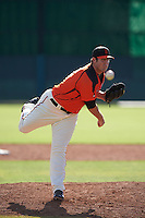 San Francisco Giants pitcher Dan Slania (46) during an instructional league game against the Colorado Rockies on October 7, 2015 at the Giants Baseball Complex in Scottsdale, Arizona.  (Mike Janes/Four Seam Images)