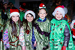 Rhia Kelliher, Tia Bruton, katie O'Sullivan and Lorna O'Shea  at the Christmas in Killarney parade on Saturday evening