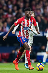 Thomas Teye Partey of Atletico de Madrid in action during the La Liga 2017-18 match between Atletico de Madrid and Real Madrid at Wanda Metropolitano  on November 18 2017 in Madrid, Spain. Photo by Diego Gonzalez / Power Sport Images