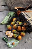 Asie/Malaisie/Bornéo/Sarawak/Kampung Budaya: Noix d'Arec et feuille de Betel sur le marché