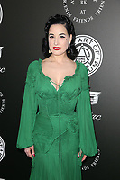 SANTA MONICA, CA - JANUARY 6: Dita Von Teese at Art of Elysium's 11th Annual HEAVEN Celebration at Barker Hangar in Santa Monica, California on January 6, 2018. <br /> CAP/MPI/FS<br /> &copy;FS/MPI/Capital Pictures