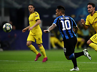 Football Soccer: UEFA Champions League -Group Stage- Group F Internazionale Milano vs Borussia Dortmund, Giuseppe Meazza stadium, October 23, 2019.<br /> Inter's Lautaro Martinez is going to score during the Uefa Champions League football match between Internazionale Milano and Borussia Dortmund at Giuseppe Meazza (San Siro) stadium, on October 23, 2019.<br /> UPDATE IMAGES PRESS/Isabella Bonotto