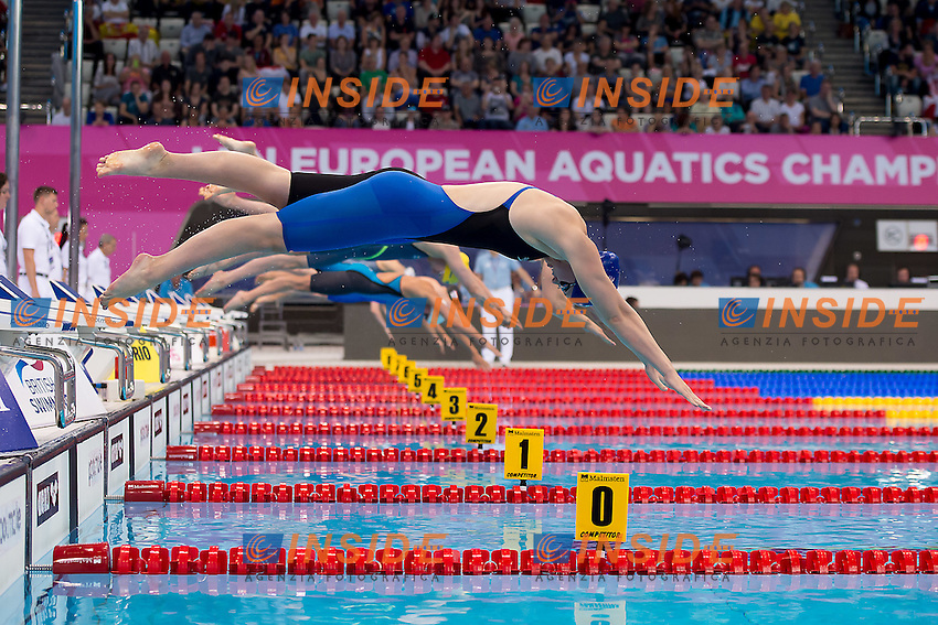 starting<br /> 100 freestyle women<br /> London, Queen Elizabeth II Olympic Park Pool <br /> LEN 2016 European Aquatics Elite Championships <br /> Swimming day 02  heats<br /> Day 09 17-05-2016<br /> Photo Giorgio Scala/Deepbluemedia/Insidefoto