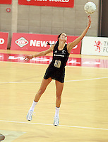 07.08.2010 Silver Ferns Anna Scarlett in action during the Silver Ferns v Samoa netball test match played at Te Rauparaha Arena in Porirua, Wellington. Mandatory Photo Credit ©Michael Bradley.
