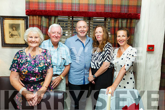 Tom Quirke from Tralee celebrating his birthday in Cassidy's with his family on Saturday<br /> L-r, Noreen and Tom Quirke, John O'Dee, Ann and Orla Quirke.