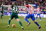 Atletico de Madrid's Filipe Luis and Real Betis's Darko Brasanac during La Liga match between Atletico de Madrid and Real Betis at Vicente Calderon Stadium in Madrid, Spain. January 14, 2017. (ALTERPHOTOS/BorjaB.Hojas)