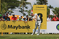 Danny Willett (ENG) in action on the 3rd tee during Round 1 of the Maybank Championship at the Saujana Golf and Country Club in Kuala Lumpur on Thursday 1st February 2018.<br /> Picture:  Thos Caffrey / www.golffile.ie<br /> <br /> All photo usage must carry mandatory copyright credit (&copy; Golffile | Thos Caffrey)