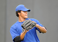August 2, 2009: RHP Oscar Melendez (45) of the Kingsport Mets, rookie Appalachian League affiliate of the New York Mets, before a game at Pioneer Park in Greeneville, Tenn. Photo by:  Tom Priddy/Four Seam Images