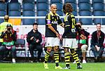 ***BETALBILD***  <br /> Solna 2015-07-26 Fotboll Allsvenskan AIK - IF Elfsborg :  <br /> AIK:s Mohamed Bangura gratuleras av Alessandro Pereira   efter sitt 2-0 m&aring;l under matchen mellan AIK och IF Elfsborg <br /> (Foto: Kenta J&ouml;nsson) Nyckelord:  AIK Gnaget Friends Arena Allsvenskan Elfsborg IFE jubel gl&auml;dje lycka glad happy