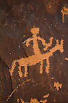 Newspaper Rock, Canyonlands area, Utah, Indian petroglyphs or rock carvings, one of the best accessible Southwest Ancestral Puebloan set of artifacts discovered, State Historical Monument near US 191,