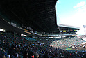 Hanshin Koshien Stadium,<br /> APRIL 1, 2016 - Baseball :<br /> A general view of the &quot;Ginsan&quot; roof over the infield stands during the closing ceremony after the 89th National High School Baseball Invitational Tournament final game between Riseisha 3-8 Osaka Toin at Koshien Stadium in Hyogo, Japan. (Photo by Katsuro Okazawa/AFLO)