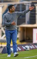 v.l. Trainer Dimitrios Grammozis (SV Darmstadt 98) gibt Anweisung, gestikuliert, mit den Armen gestikulieren, gives instructions, gesticulate<br /> <br /> - 29.05.2020: Fussball 2. Bundesliga, Saison 19/20, Spieltag 29, SV Darmstadt 98 - SpVgg Greuther Fuerth, emonline, emspor, <br /> <br /> Foto: Florian Ulrich/Jan Huebner/Pool VIA Marc Schüler/Sportpics.de<br /> Nur für journalistische Zwecke. Only for editorial use. (DFL/DFB REGULATIONS PROHIBIT ANY USE OF PHOTOGRAPHS as IMAGE SEQUENCES and/or QUASI-VIDEO)