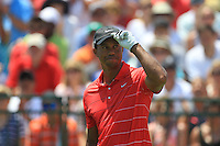 Tiger Woods (USA) on the 1st tee before starting his match Sunday's Final Round of the 94th PGA Golf Championship at The Ocean Course, Kiawah Island, South Carolina, USA 11th August 2012 (Photo Eoin Clarke/www.golffile.ie)
