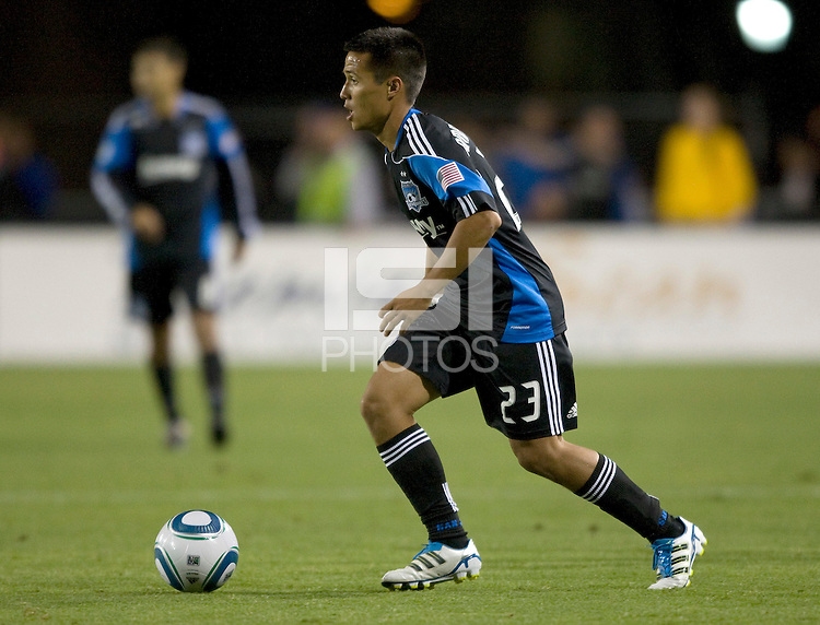 Anthony Ampaipitakwong of Earthquakes in action during the game against DC United at Buck Shaw Stadium in Santa Clara, California on July 30th, 2011.   DC United defeated San Jose Earthquakes, 2-0.
