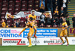 Motherwell v St Johnstone&hellip;13.08.16..  Fir Park<br />Chris Cadden celebrates his goal with Joe Chalmers<br />Picture by Graeme Hart.<br />Copyright Perthshire Picture Agency<br />Tel: 01738 623350  Mobile: 07990 594431