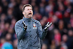Southampton manager Ralph Hasenhuttl reacts to his side missing a chance during the Premier League match at Anfield, Liverpool. Picture date: 1st February 2020. Picture credit should read: James Wilson/Sportimage