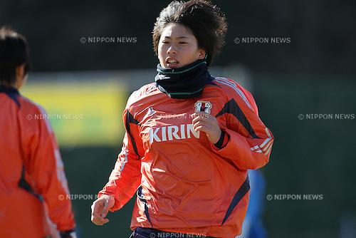 Megumi Takase (JPN), FEBRUARY 11, 2012 - Football / Soccer : Nadeshiko Japan team training Wakayama camp at Kamitonda Sports Center in Wakayama, Japan. (Photo by Akihiro Sugimoto/AFLO SPORT) [1080]