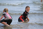 Gary O'Connell<br /> enjoying the Sun and Sea in clogherhead beach<br /> Picture:  www.newsfile.ie