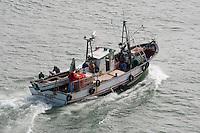 Fishing boat, Lisbon, Portugal....Copyright..John Eveson,.Dinkling Green Farm,.Whitewell,.Clitheroe,.Lancashire..BB7 3BN.Tel. 01995 61280.Mobile 07973 482705.j.r.eveson@btinternet.com.www.johneveson.com