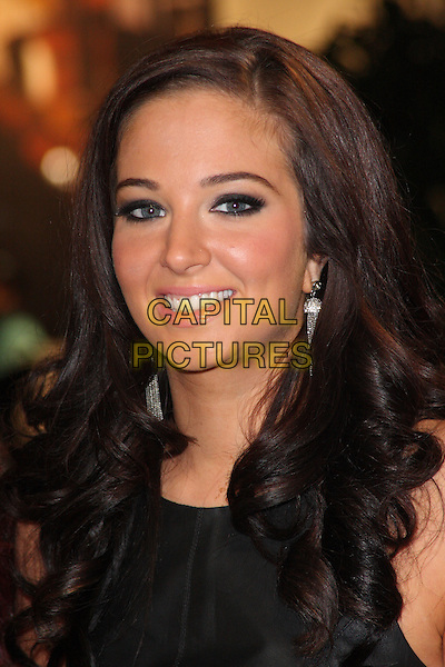 Tulisa Contostavlos.'The Twilight Saga: Breaking Dawn - Part 1' UK film premiere at Westfield Stratford City, London, England..16th November 2011.headshot portrait black smiling .CAP/ROS.©Steve Ross/Capital Pictures.