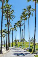 Long Beach CA Skyline, Pike Amusements, Southern California, USA, Rainbow Lagoon Park Waterfront Center Long Beach California