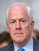 "United States Senator John Cornyn (Republican of Texas) listens to the debate about the release of documents designated ""committee confidential"" prior to the US Senate Judiciary Committee beginning the third day of testimony from Judge Brett Kavanaugh on his nomination as Associate Justice of the US Supreme Court to replace the retiring Justice Anthony Kennedy on Capitol Hill in Washington, DC on Thursday, September 6, 2018.<br /> Credit: Ron Sachs / CNP<br /> (RESTRICTION: NO New York or New Jersey Newspapers or newspapers within a 75 mile radius of New York City)"