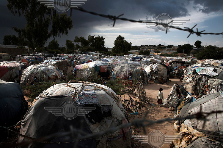 The Xabaalaha Shanad camp for displaced persons in the center of Hargeisa.