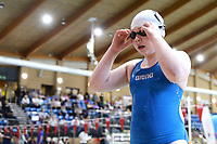 Picture by Richard Blaxall/SWpix.com - 15/04/2018 - Swimming - EFDS National Junior Para Swimming Champs - The Quays, Southampton, England - Erin Boyles of Workingham prepares for the Women's MC 200m Freestyle