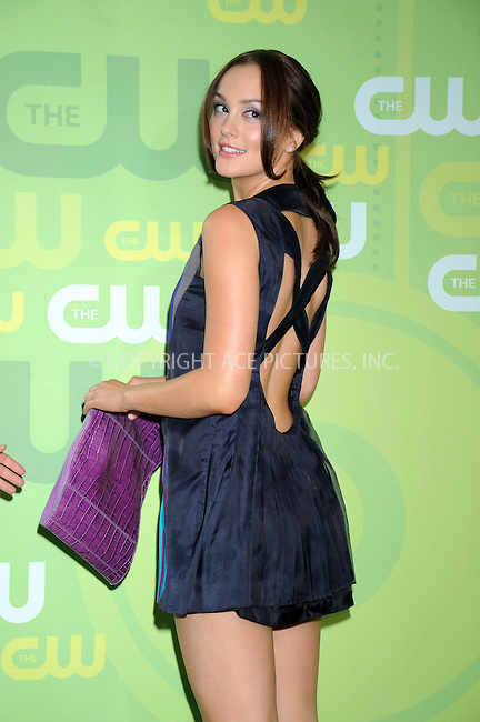 WWW.ACEPIXS.COM . . . . .....May 13, 2008. New York City.....Actress Leighton Meester attend the CW Network Upfronts at Lincoln Center...  ....Please byline: Kristin Callahan - ACEPIXS.COM..... *** ***..Ace Pictures, Inc:  ..Philip Vaughan (646) 769 0430..e-mail: info@acepixs.com..web: http://www.acepixs.com