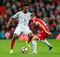 Daniel Sturridge (Liverpool) of England takes on Paul Fenech of Malta during the FIFA World Cup qualifying match between England and Malta at Wembley Stadium, London, England on 8 October 2016. Photo by David Horn / PRiME Media Images.