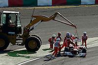 ATENCAO EDITOR IMAGEM EMBARGADA PARA VEICULOS INTERNACIONAL - SUZUKA, JAPAO, 07 OUTUBRO 2012 - F1 GP DO JAPAO - O piloto espanhol Fernando Alonso abandona aprova neste domingo, 07, no Grande Premio do Japão de Fórmula 1, em Suzuka. (FOTO: PIXATHLON / BRAZIL PHOTO PRESS).