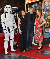 Kelly Marie Tran, Mark Hamill &amp; Billie Lourd at the Hollywood Walk of Fame Star Ceremony honoring actor Mark Hamill, Los Angeles, USA 08 March 2018<br /> Picture: Paul Smith/Featureflash/SilverHub 0208 004 5359 sales@silverhubmedia.com