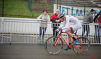 U23 World Cup Leader Mathieu van der Poel (NLD) at work<br /> <br /> UCI Worldcup Heusden-Zolder Limburg 2013