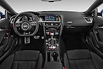 Stock photo of straight dashboard view of 2017 Audi S5-Coupe 3.0T-quattro-manual 2 Door Coupe Dashboard