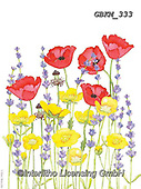 Kate, FLOWERS, BLUMEN, FLORES, paintings+++++Laveder, poppy and buttercup CMYK,GBKM333,#f#, EVERYDAY