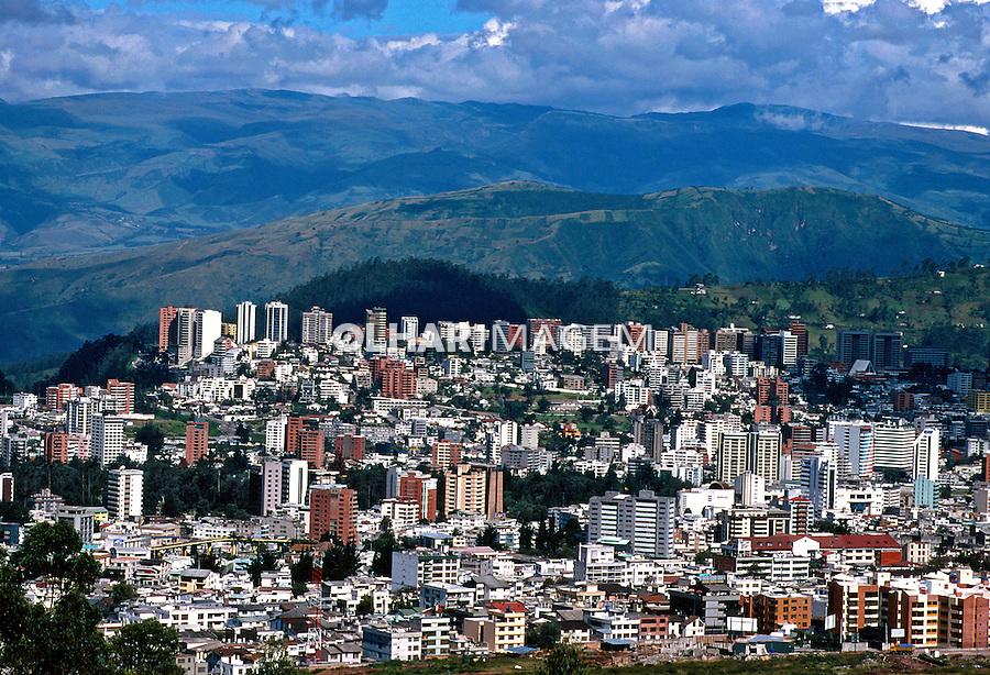 Vista da cidade de Quito. Equador. Foto de Juca Martins. Data: 1997