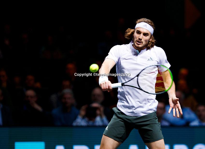 Rotterdam, The Netherlands, 11 Februari 2020, ABNAMRO World Tennis Tournament, Ahoy, <br /> Stefanos Tsitsipas (GRE).<br /> Photo: www.tennisimages.com
