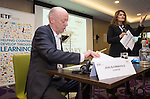 "BRUSSELS - BELGIUM - 23 November 2016 -- European Training Foundation (ETF) Conference on ""GETTING ORGANISED FOR BETTER QUALIFICATIONS"". -- Jens Bjornavold Senior Expert, European Center for Development of Vocational Training; Eduarda Castel Branco, ETF Senior specialist in Qualifications Systems and VET policies. -- PHOTO: Juha ROININEN / EUP-IMAGES"