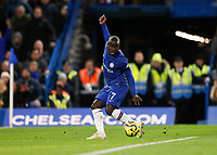 30th November 2019; Stamford Bridge, London, England; English Premier League Football, Chelsea versus West Ham United; Ngolo Kante of Chelsea - Strictly Editorial Use Only. No use with unauthorized audio, video, data, fixture lists, club/league logos or 'live' services. Online in-match use limited to 120 images, no video emulation. No use in betting, games or single club/league/player publications