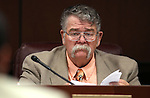 Nevada Sen. Pete Goicoechea, R-Eureka, works in committee at the Legislative Building in Carson City, Nev., on Wednesday, March 25, 2015.  <br /> Photo by Cathleen Allison