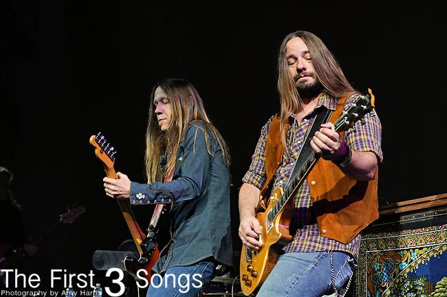 Charlie Starr and Paul Jackson of Blackberry Smoke perform at US Bank Arena in Cincinnati, Ohio on December 30, 2012.