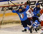 07.01.2020, BLZ Arena, Füssen / Fuessen, GER, IIHF Ice Hockey U18 Women's World Championship DIV I Group A, <br /> Italien (ITA) vs Daenemark (DEN), <br /> im Bild Torjubel nach 5:3, Aurora Abatangelo (ITA, #10)<br /> <br /> Foto © nordphoto / Hafner