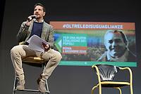 Roma, 1 Dicembre 2018<br /> Giacomo Russo Spena.<br /> Il Sindaco di Napoli lancia a Roma nel Teatro Italia &quot;Oltre le disuguaglianze&quot; , una nuova coalizione dei Popoli