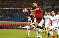 Roma's Kevin Strootman in action during the Serie A football match between Roma and Bologna at Rome's Olympic stadium, October 28, 2017.<br /> UPDATE IMAGES PRESS/Riccardo De Luca